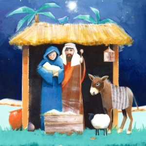 Nativity Scene Christmas Cards - Pack of 10