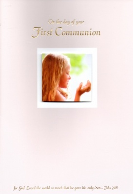 First Communion Card (Pink)