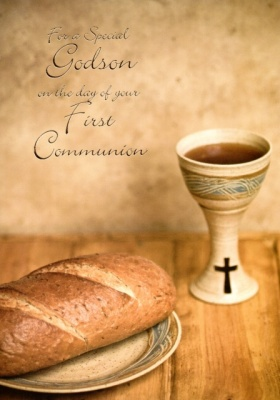 First Communion Card - Godson