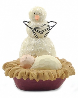 Snowman with Manger Ornament