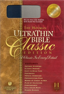 HCSB UltraThin Thumb Index Bible