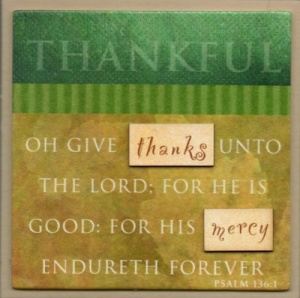 THANKFUL - Easel Fridge Magnet