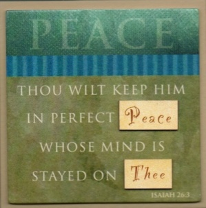 PEACE - Easel Fridge Magnet