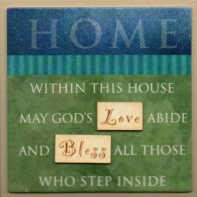HOME - Easel Fridge Magnet