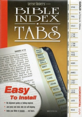 Horizontal, Gold Edged, Bible Tabs