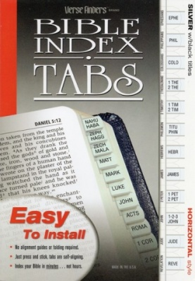 Horizontal, Silver Edged, Bible Tabs