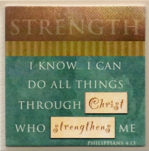 STRENGTH - Easel Fridge Magnet