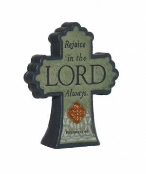 Rejoice in the Lord Always - Cross Plaque