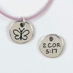 Butterfly/2 Cor. 5:17 Pendant