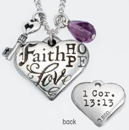 Faith hope love heart wkey pendant lovechristianbooks faith hope love heart wkey pendant aloadofball Gallery