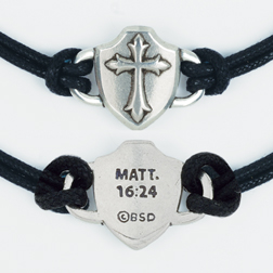 Cross within Shield Bracelet