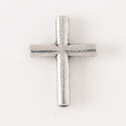 Rounded Cross Lapel Pin
