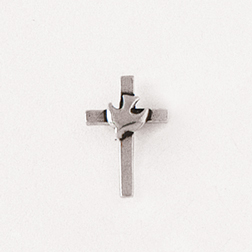 Cross with Dove Lapel Pin