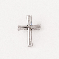 Round Flared Cross Lapel Pin