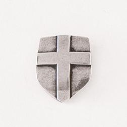 Shield with Cross Lapel Pin