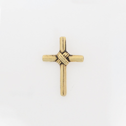 Wrapped Tube Cross Lapel Pin