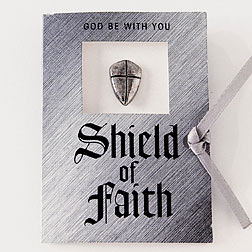 Shield of Faith Lapel Pin With Message Card