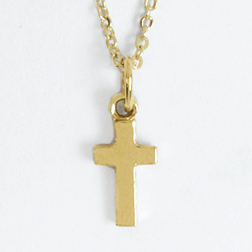 Small Flat Cross Pendant