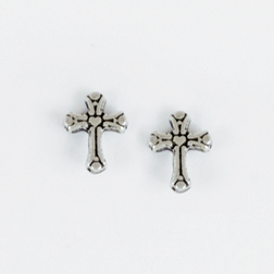 Stylized Cross Ear Studs