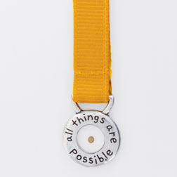 Mustard Seed All Things Are Possible Ribbon Bookmark