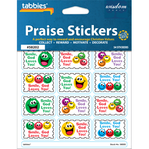 Smile God Loves You Praise Stickers
