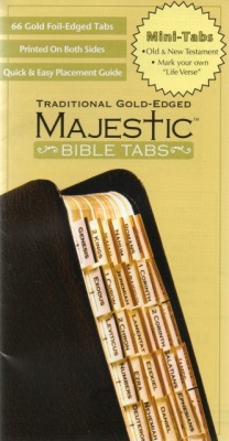 66 Vertical Traditional Gold-Edged Mini Bible Tabs