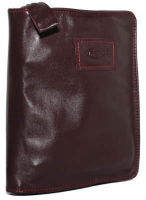Ichthus Fish X-Small Burgundy Bible Cover
