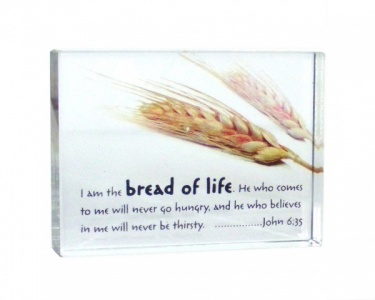 I Am The Bread Of Life Crystal BLock