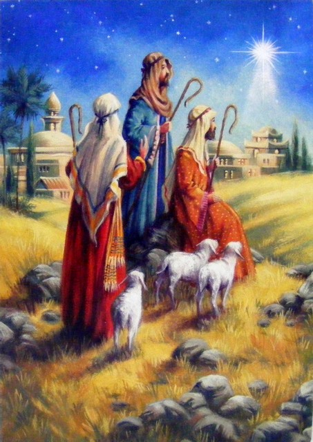 Christmas Shepherds.Shepherds And Sheep Christmas Cards Pack Of 5