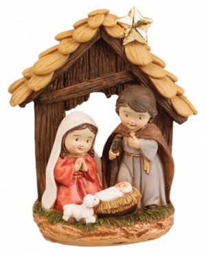 Young Mary and Joseph Resin Nativity