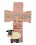 Baptism Cross (Pink)