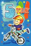 5th Birthday Card (Bike)