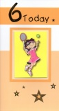 6th Birthday Card (Tennis)