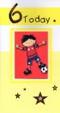 6th Birthday Card (Football)
