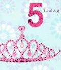 5th Birthday Card (Tiara)