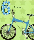 6th Birthday Card (Bike)