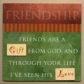 FRIENDSHIP - Easel Fridge Magnet