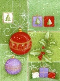 Baubles & Holly Christmas Cards - Pack of 10