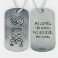 3:16 Dog Tag Pendant