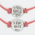 Faith-Hope-Love Bracelet