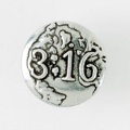 3:16 Pewter Lapel Pin