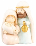 Pastel Crib Resin Nativity