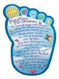 Footprints Childrens Wall Plaque