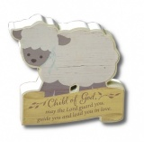 Child of God Lamb Desk Plaque