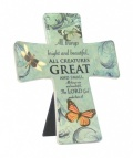All Creatures Great and Small - Porcelain Cross