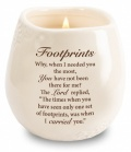 Footprints - Stoneware Jar Candle