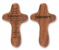 Serenity Walnut Holding Cross