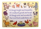 All Things Bright And Beautiful - Wooden Plaque