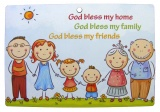 God Bless My Home - Wooden Plaque