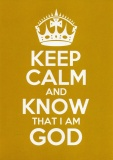 Keep Calm and Know That I Am God - Greetings Card (Crayola Yellow)